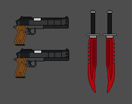 Nate Castle's Weapons