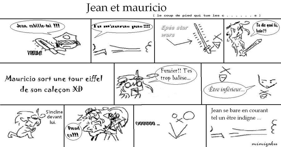 Jean et mauricio (le coup de pied qui tue les ...) by mimizaku
