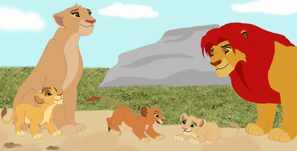 Kion tiifu and their cubs by pussipiru on deviantart - Kion le roi lion ...