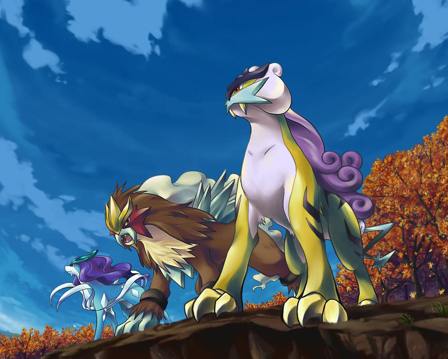 Suicune,Entei and Raikou by x3Hikarix3 on DeviantArt