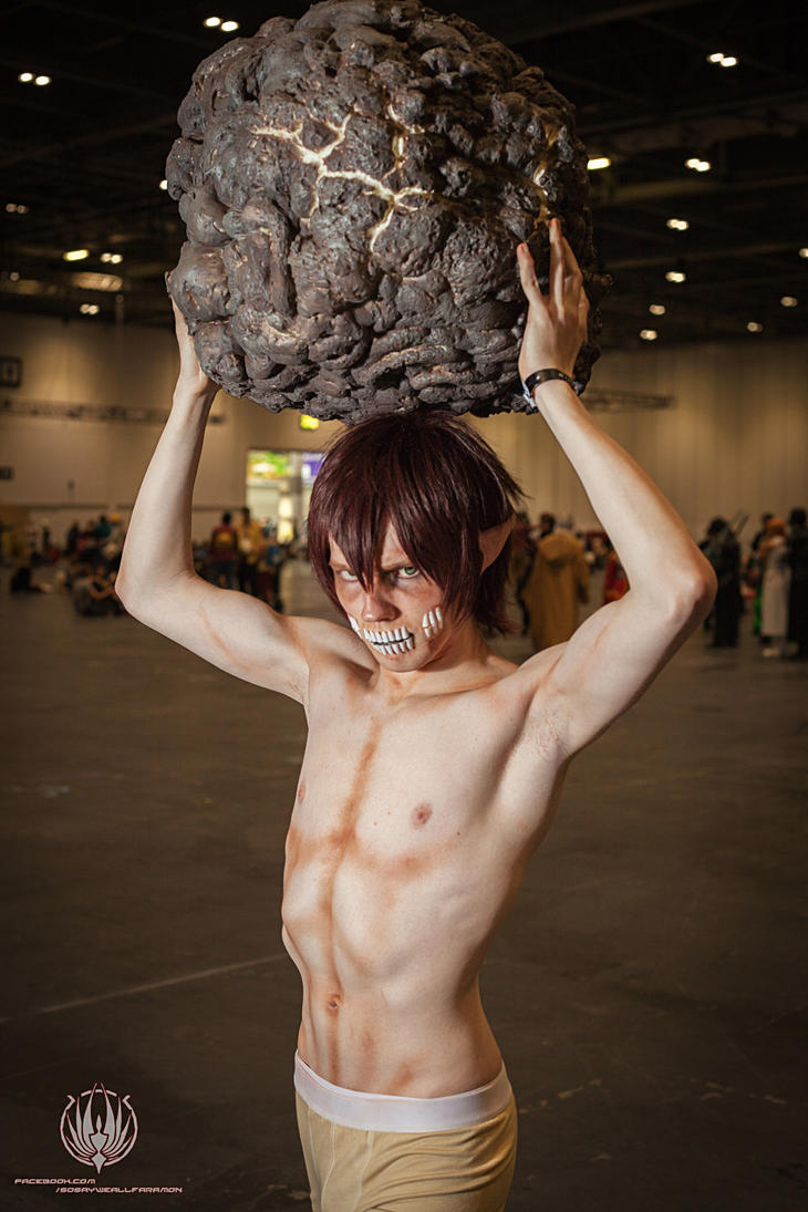 Attack on Titan - The Titan With Real Rocks by faramon