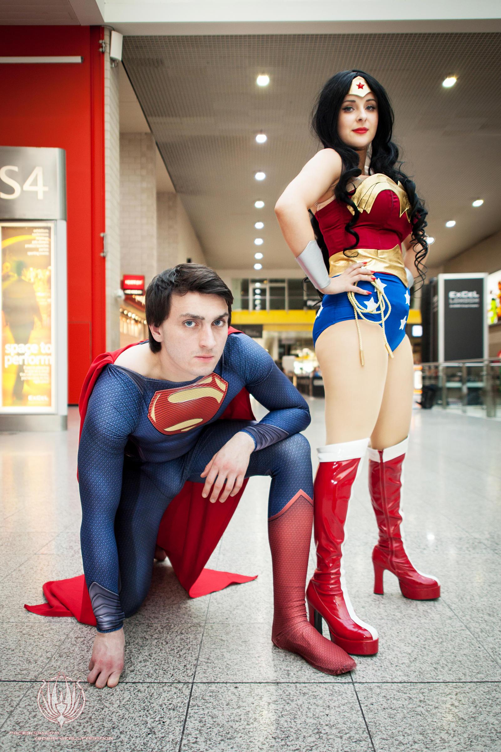 Superman and Wonder Woman Hitting up LSCC by faramon