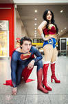 Superman and Wonder Woman Hitting up LSCC