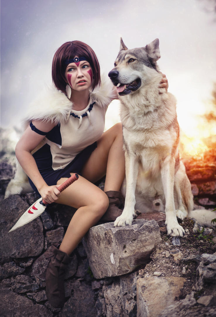 San - Princess Mononoke - Wolfhound and All by faramon