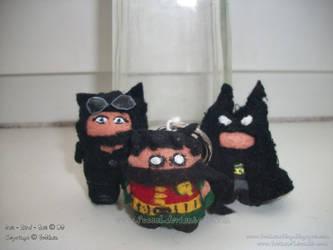 Cat - Bat - Bird - Keyrings by FuSSsL