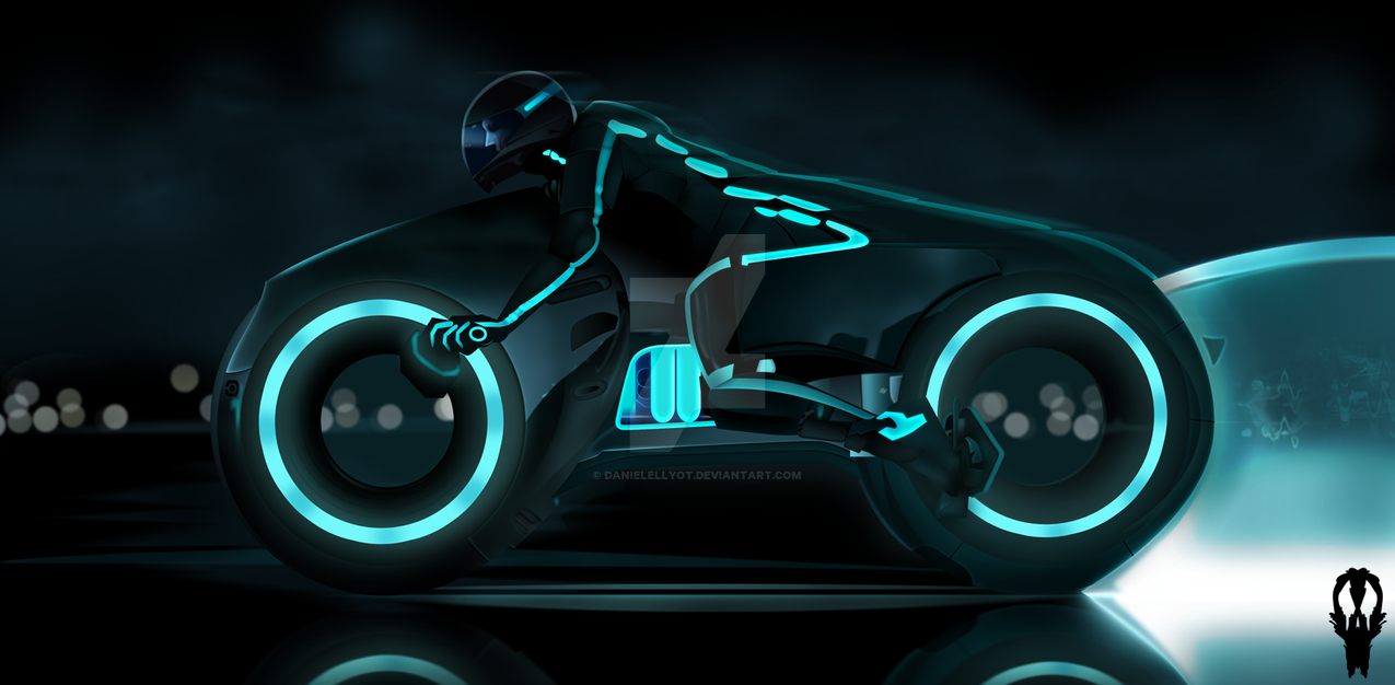 Wallpaper 3d Bike Tron Legacy Download: Light Bike. By DanielEllyot On DeviantArt