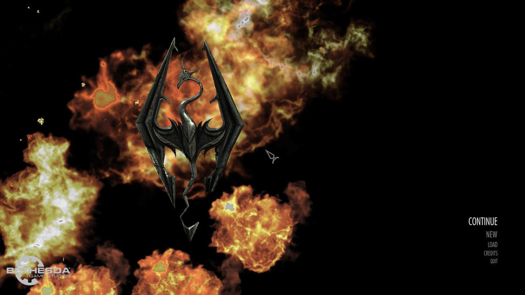 The Elder Scrolls V: Skyrim (flaming menu screen) by Ask-Fangthevampire