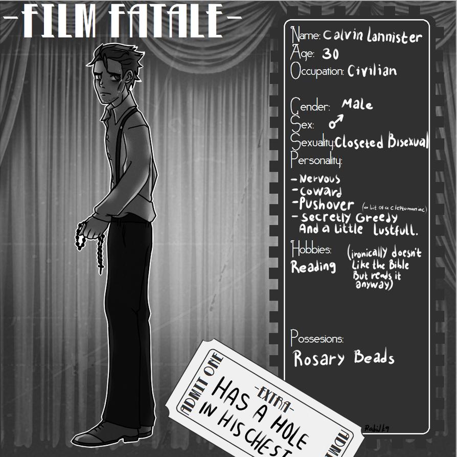 Calvin Lannister :FF App: by RabidK-9