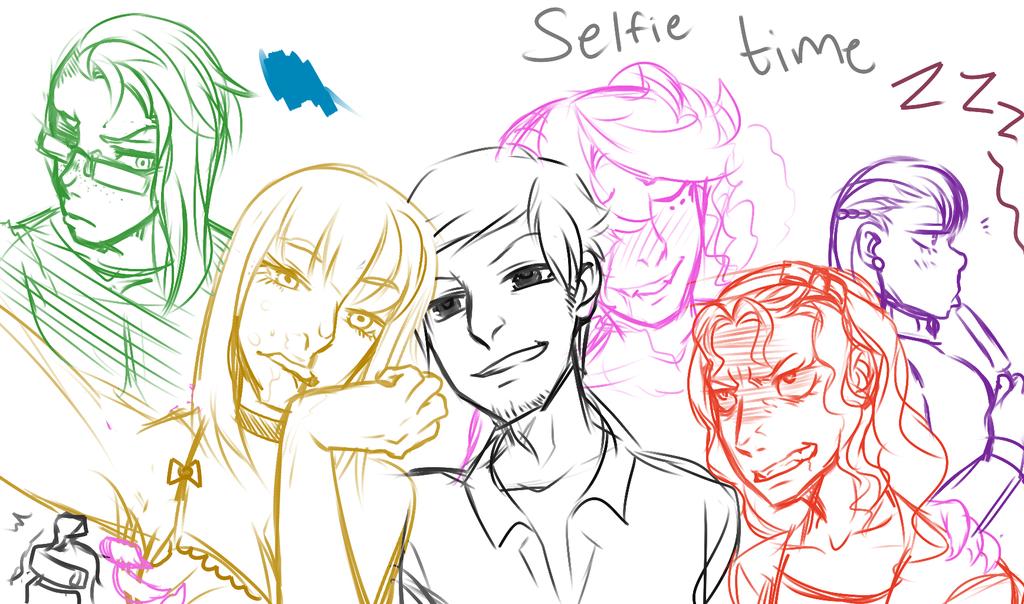 Seven deadly sins selfie :Wip: by RabidK-9
