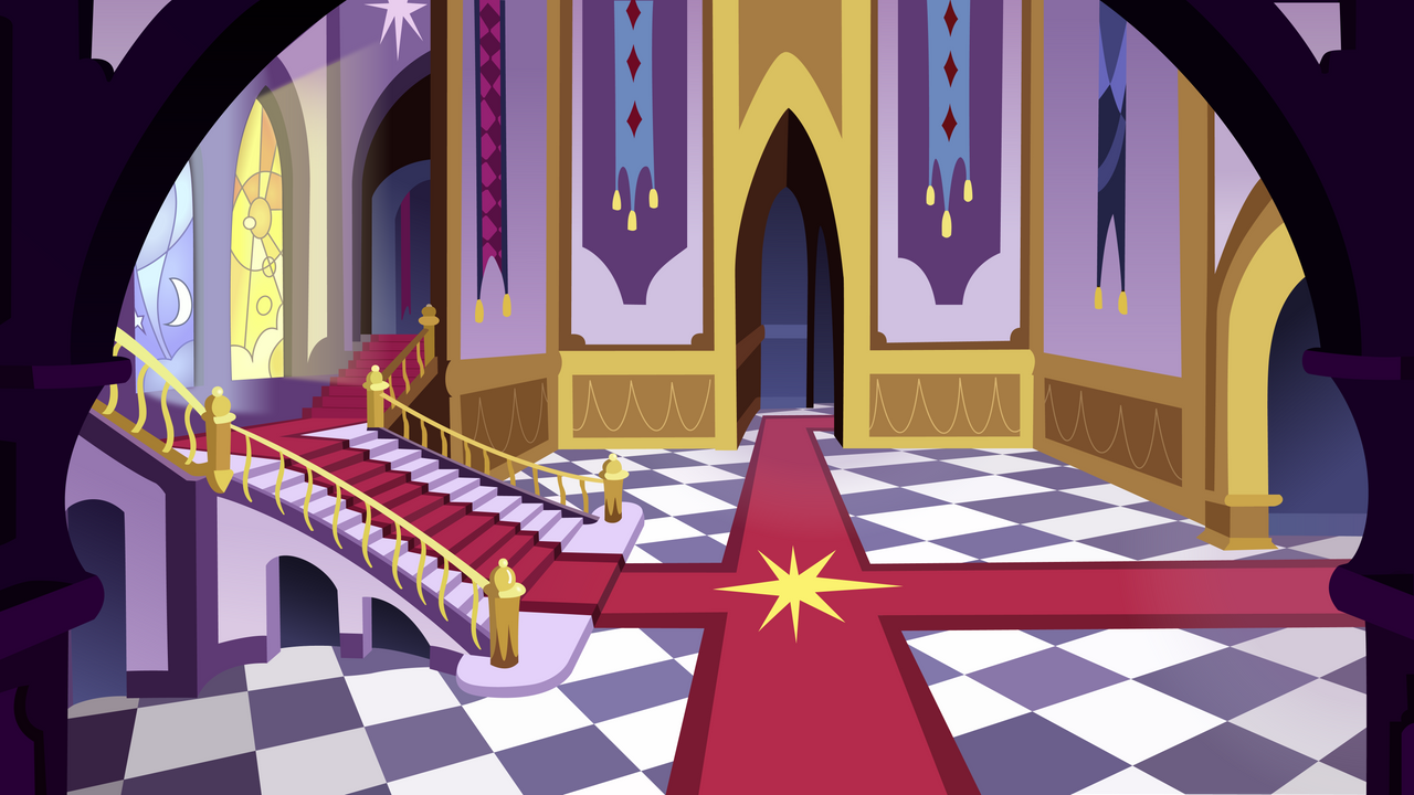 canterlot castle entrance hall backgroundzapheroc on deviantart