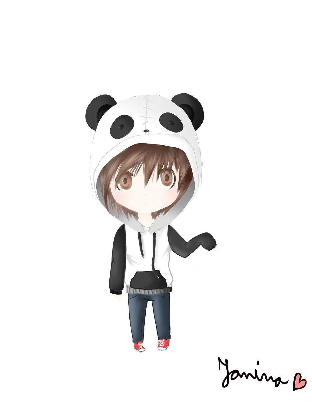 Cute chibi anime panda