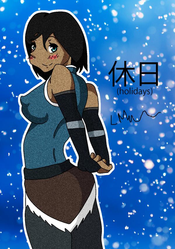 Korra Happy Holidays by Mars345