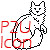 P2U Long furred Cat Icon or Sprite by October-Owl