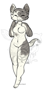 Adoptable : Anthro Female Spots of Silver - CLOSED