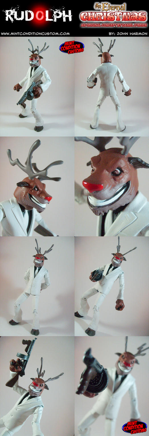 Custom Rudolph the Hitman Reindeer Action Figure by MintConditionStudios