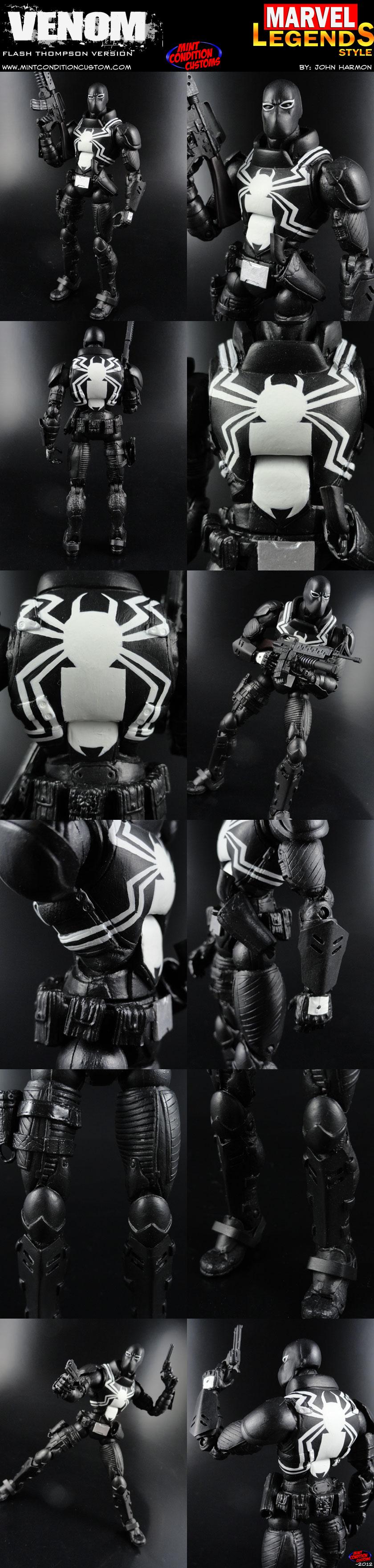 Custom Flash Thompson Venom Action Figure by MintConditionStudios