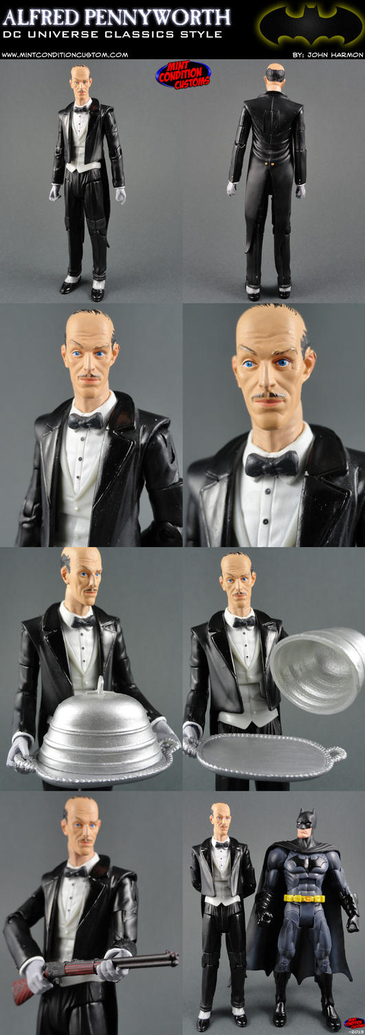 Custom Alfred Pennyworth Action Figure by MintConditionStudios