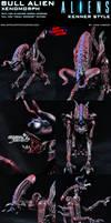 Custom Bull Alien Xenomorph Kenner Style Figure