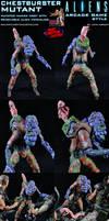 Custom Chestburster Mutant, Aliens Arcade Game by MintConditionStudios