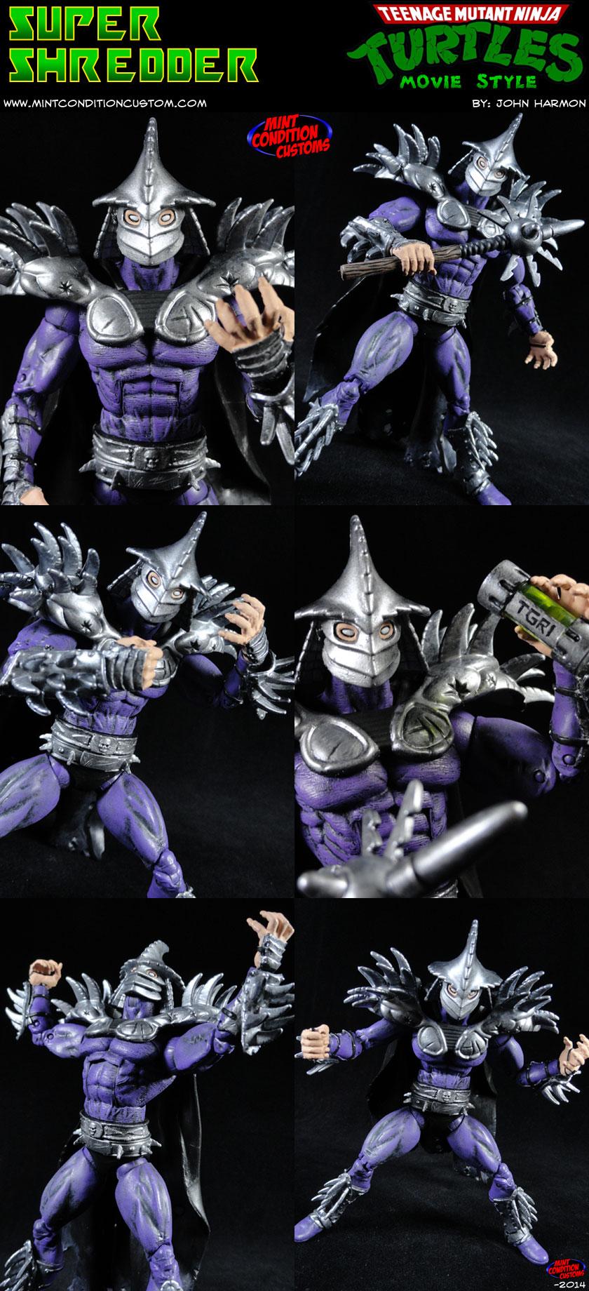 Custom Super Shredder Movie Style Action Figure By