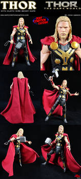 Thor the Dark World w/ Poseable Cape Custom Figure by MintConditionStudios