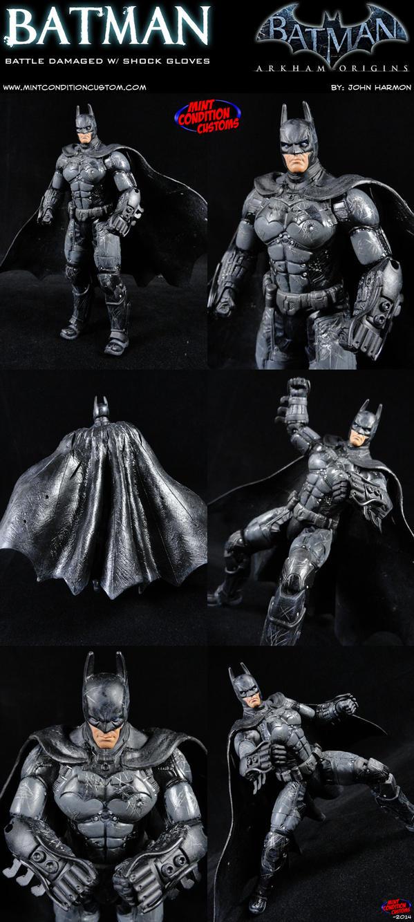 Batman Arkham Origins, Battle Worn w/ Shock Gloves by ...