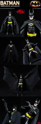 Custom Batman 1989 Movie Style Action Figure
