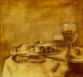 Restaurant Print III by StefanMarcuArt
