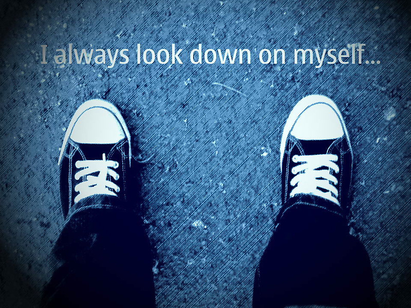 I always look down on myself.. by PhotoHunny