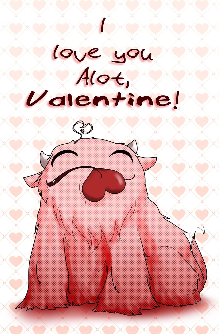 Valentine, Alot by sylvacoer