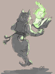 sorcerer cat by like-a-cactus