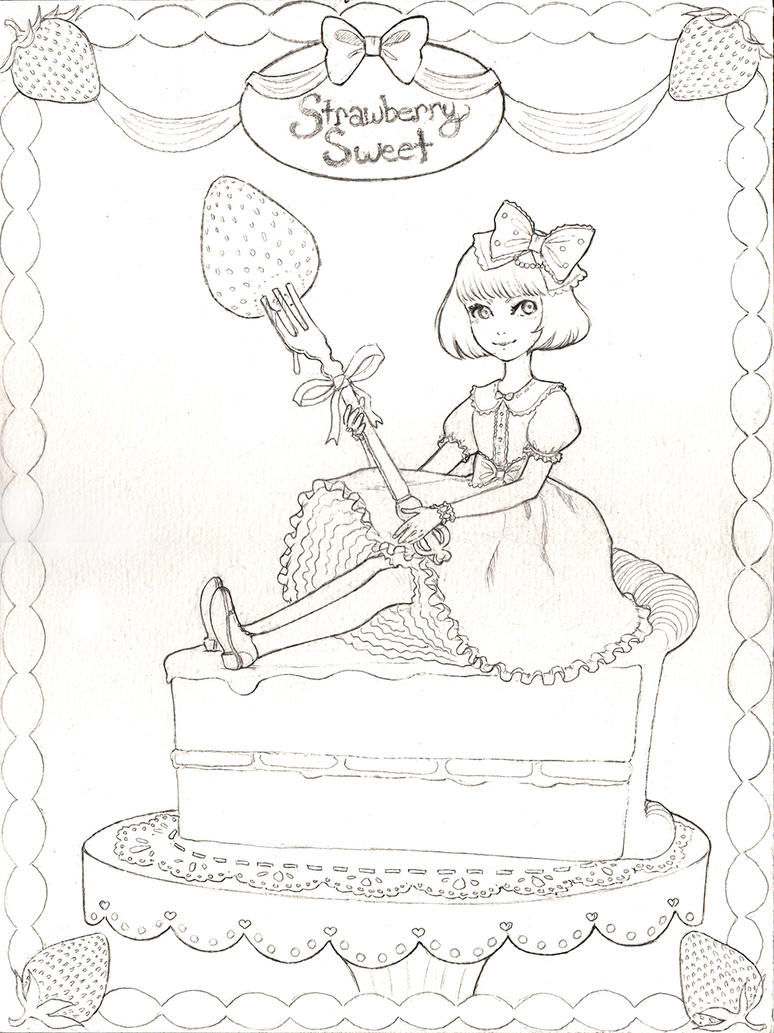 Strawberry Sweet (pencils) by silentillusion
