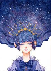 Starry Constellation Lolita by silentillusion