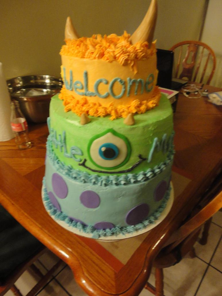 Baby Shower Monster Cake By Panda Odono On Deviantart