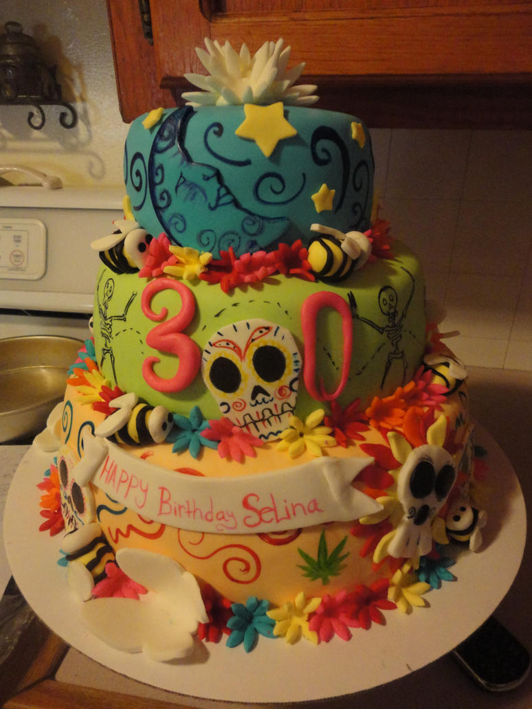 Day Of The Dead Birthday Cake By Panda Odono On Deviantart