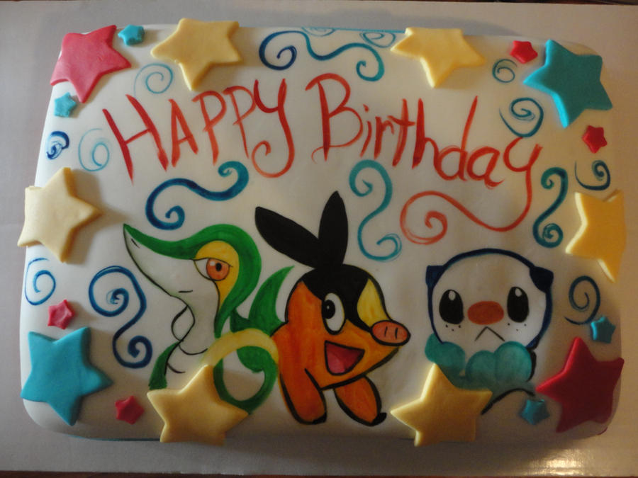 Pokemon Birthday Cake By Panda Odono On Deviantart