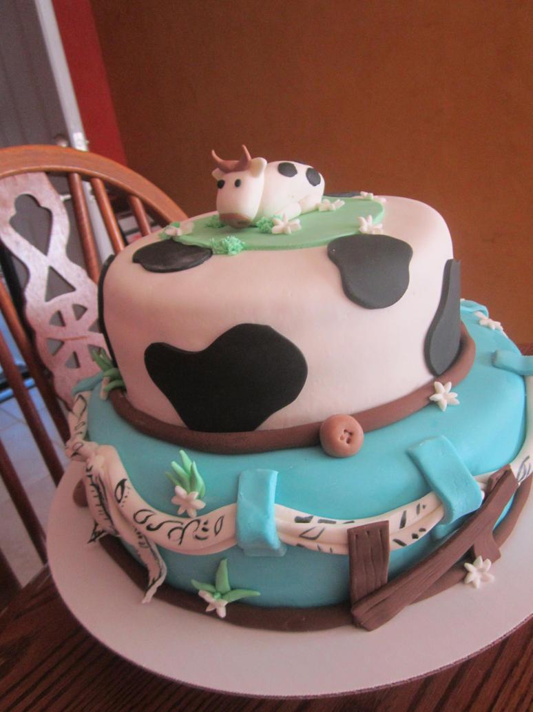 Art By Cow Cake : cow/corral cake by panda-odono on DeviantArt