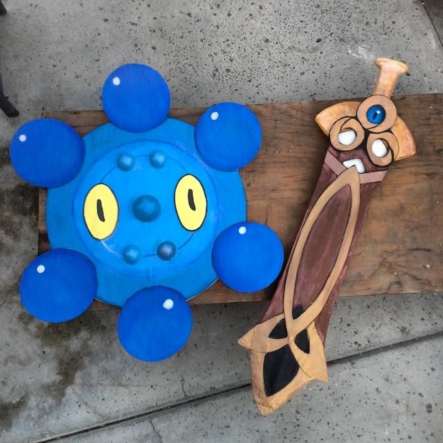 honedge and bronzor by panda-odono