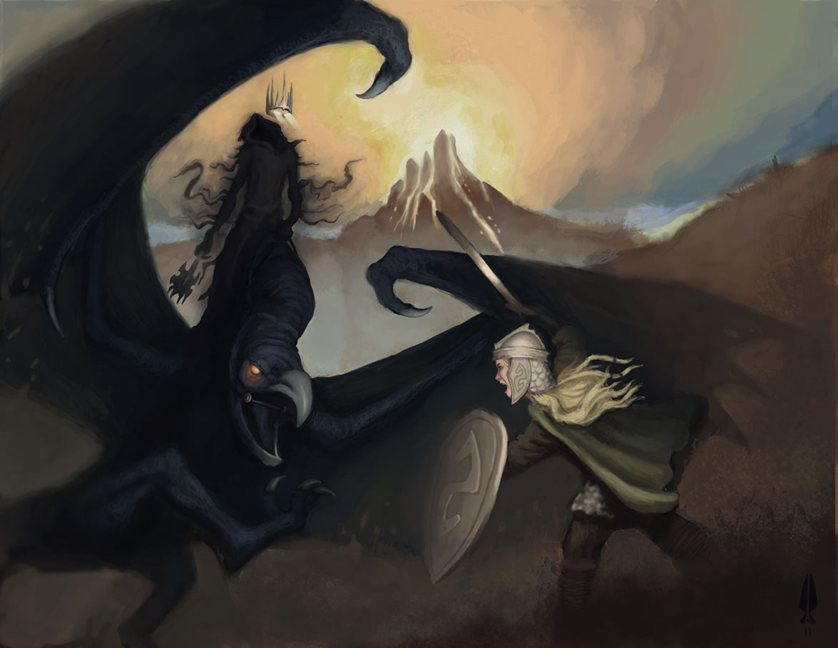 Eyown and The Nazgul by jfarsenault