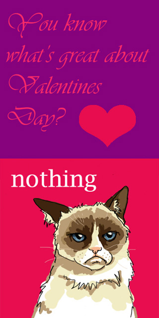 Grumpy Cat Valentine by Whyamithewerewolf