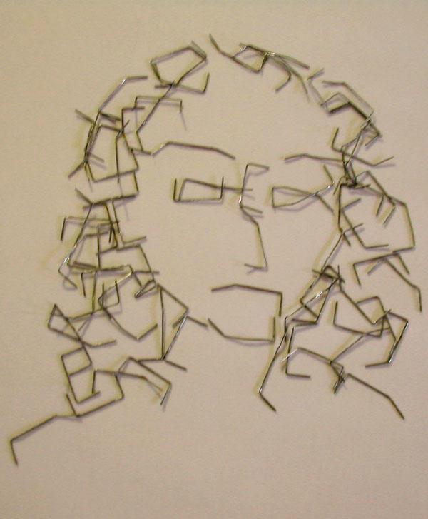 Paper Clip Portrait by Whyamithewerewolf