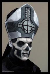 Ghost - Papa Emeritus II - Hellfest 2013 by Wild-Huntress