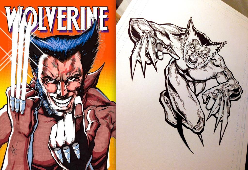 Frank Miller Tribute Wolverine by Flashback33