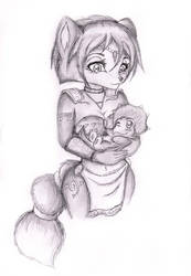 Krystal and baby Tricky by Naaraskettu