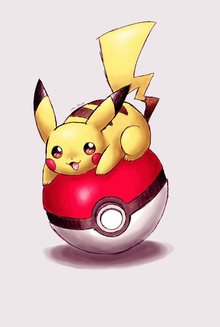 Pokepraat  Pikachu_on_a_pokeball_by_shiroiwolf-d87e2ug