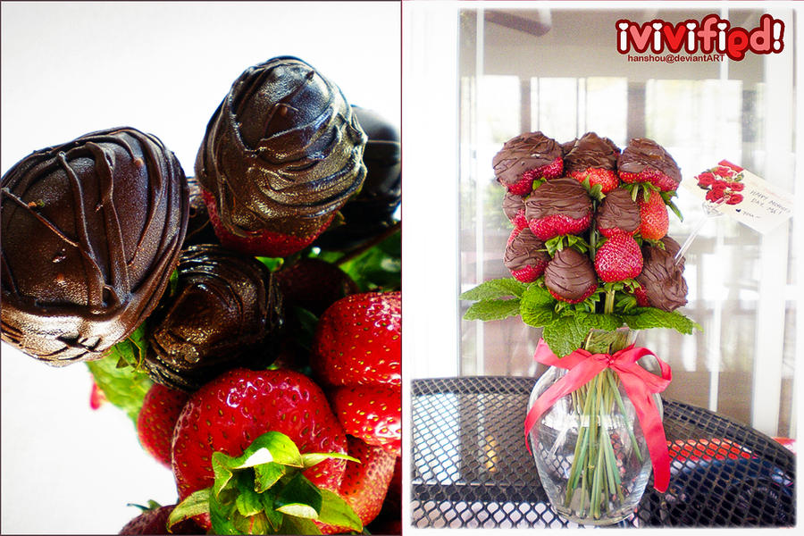 Bouquet of Dark Chocolate Kisses by iViViFiED