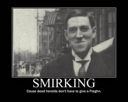 hp lovecraft suppressing a grin and failing