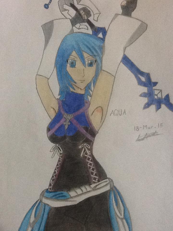 Aqua Kingdom Hearts [Draw] by Anuval on DeviantArt