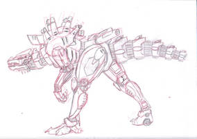 GO mechagodzilla by MikeDastardly