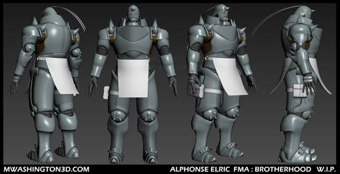 W.I.P. Alphonse Elric FMA by MikeDastardly
